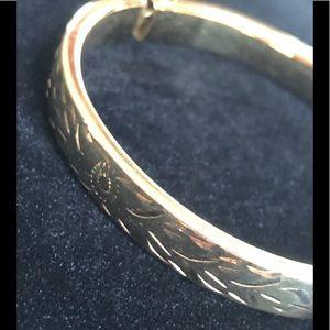 Napier vintage gold bangle bracelet